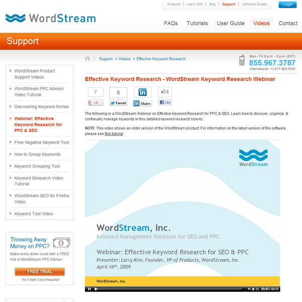 WordStream Keyword Research Webinar