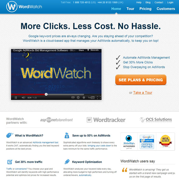 WordWatch Homepage