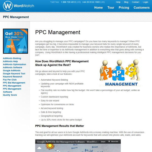 WordWatch PPC Management