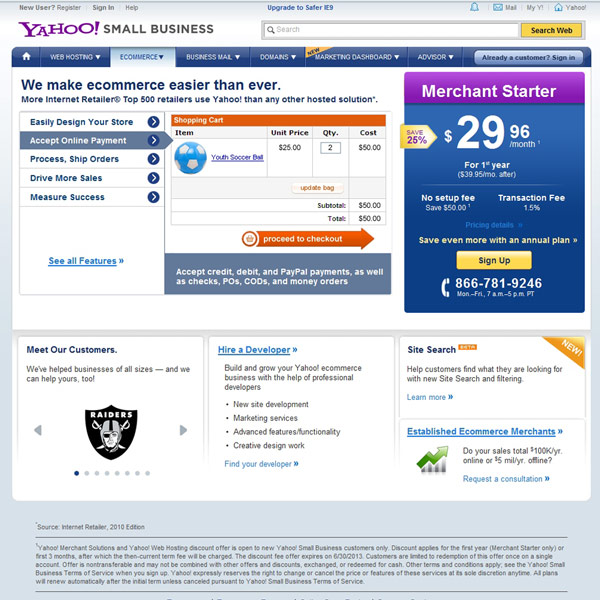 Yahoo! Small Business Ecommerce Solution