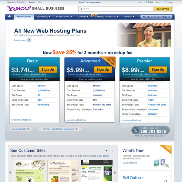 Yahoo! Small Business Web Hosting