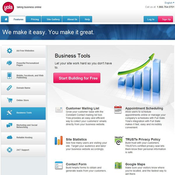 Yola Business Tools