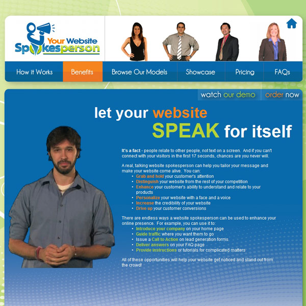Your Website Spokesperson Benefits