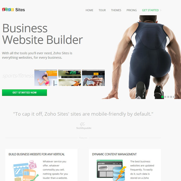 Zoho Sites Business Website