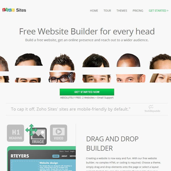 Zoho Sites Free Website Builder